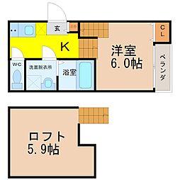 ハーモニーテラスK[2階]の間取り