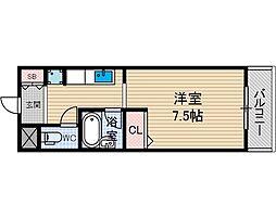 メゾンヴェルドゥール[2階]の間取り