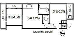 WHITE HEIGHTS[6階]の間取り