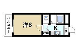 奈良県奈良市西笹鉾町の賃貸マンションの間取り