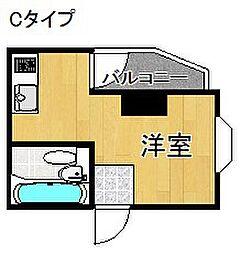 プレアール中加賀屋[2階]の間取り