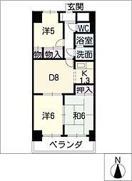 マンション森[12階]の間取り