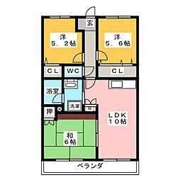 グリーンハイム土屋[1階]の間取り