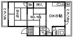 マルキヨマンション[206号室]の間取り