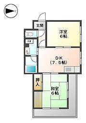 アイリスマンション[2階]の間取り