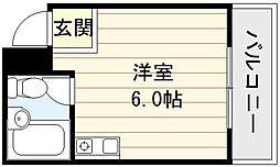 エルシティ新今里[2階]の間取り