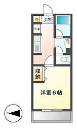 神奈川県川崎市高津区二子2丁目の賃貸マンションの間取り