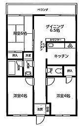 ワコーレ南桜井[206号室]の間取り