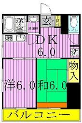 サニーハイツII[3階]の間取り