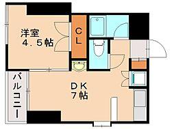 ウィング21大橋ビル[8階]の間取り