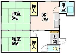 八幸荘[03号室]の間取り