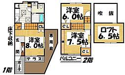 福岡県春日市須玖南3丁目の賃貸アパートの間取り
