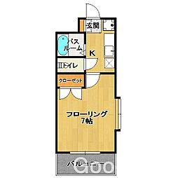 アルティ箱崎[1階]の間取り