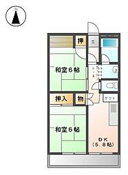 尾上団地 6号棟[11階]の間取り