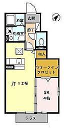 愛知県名古屋市南区南野2丁目の賃貸アパートの間取り