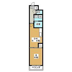 アストラルルームII[3階]の間取り