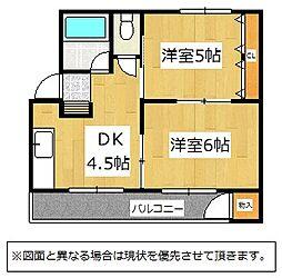 福岡県北九州市戸畑区一枝1丁目の賃貸マンションの間取り