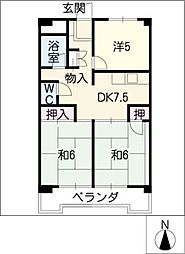 籐栄ビルディング[7階]の間取り