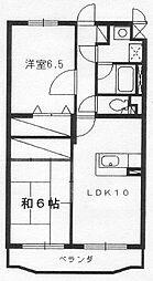 レイクグリーンAKEBONO[2階]の間取り