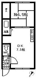 レジデンス深堀[213号室]の間取り