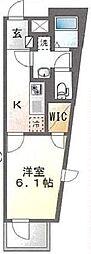 JR総武線 平井駅 徒歩6分の賃貸マンション 3階1Kの間取り
