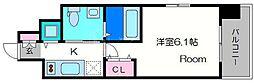 エスリード新梅田ノースポイント[8階]の間取り