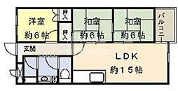 インペリアル京都[303号室号室]の間取り