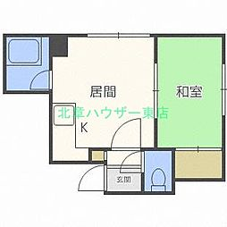 北海道札幌市東区北二十二条東1丁目の賃貸アパートの間取り
