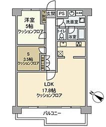 わらびペアシティ[4F号室]の間取り