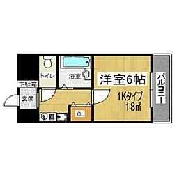 イマザキマンション エヌ・ワン[4階]の間取り