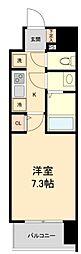 仙台市営南北線 広瀬通駅 徒歩4分の賃貸マンション 8階1Kの間取り