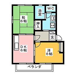 サニー川部 B棟[2階]の間取り
