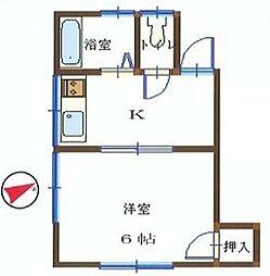 川本ハウス[102号室]の間取り