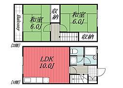 京成本線 京成佐倉駅 徒歩18分の賃貸テラスハウス 1階2LDKの間取り