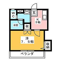 シルク中田[2階]の間取り