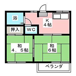 タウニーK・H[2階]の間取り