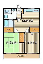 東京都練馬区南大泉2の賃貸マンションの間取り