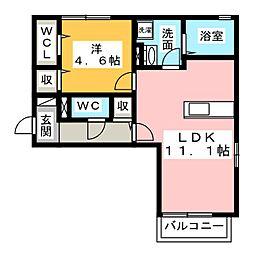 フラット麻布WEST[2階]の間取り