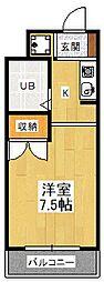シフォン神泉苑[215号室]の間取り
