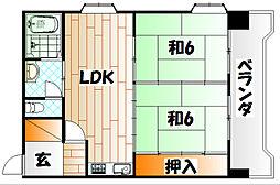 東洋レジデンス青山[6階]の間取り