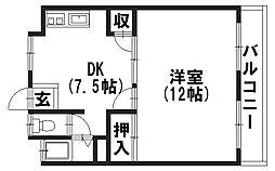 三宅マンション[402号室]の間取り