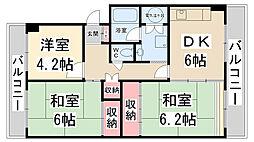 栄南団地 10号棟[4階]の間取り