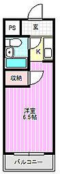 ファーストプラザII[2階]の間取り