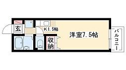 愛知県名古屋市昭和区池端町2丁目の賃貸アパートの間取り