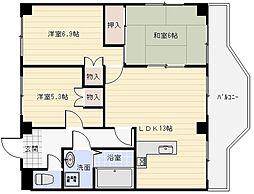 ココ川崎[4階]の間取り