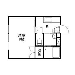 ブランシュ富士1・2[3階]の間取り