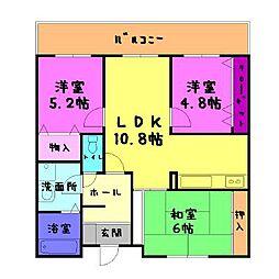 ボヌール21[4階]の間取り