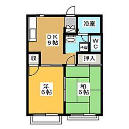 カーサソラーレ[2階]の間取り