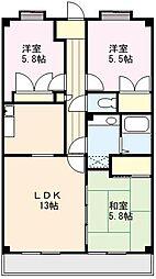 サンリットマンション[202号室]の間取り