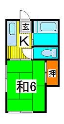 ハイツ清宮[2階]の間取り